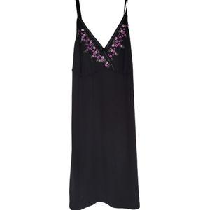 Additionn elle blackn8ght gown, flower emboierdery
